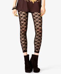 Lace Leggings | FOREVER21 - 2019543893
