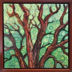 Artist Name:Gregory Arth Name of Piece:Barton Springs Austin Medium:Oil on Canvas, Framed