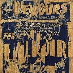 Jacques Villeglé,Tapis Maillot, 1959, Affiches lacérées collées sur papier journal marouflé sur toile 118 x 490 cm - Centre Pompidou