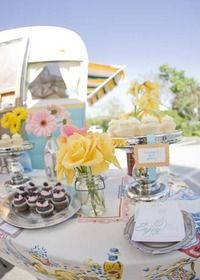 Vintage cupcake trailer