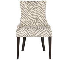 Laskine Gray Zebra Print Upholstered Chair   55DowningStreet.com - $281 w/ silver nailheads