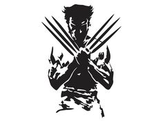 Wolverine Silhouette Vinyl Decal/Bumper Sticker Marvel Comics X-Men Marvel Wolverine, Wolverine Tattoo, Marvel Comics, Logan Wolverine, Marvel Art, Marvel Heroes, Wolverine Images, Black And White Comics, Silhouette Vinyl