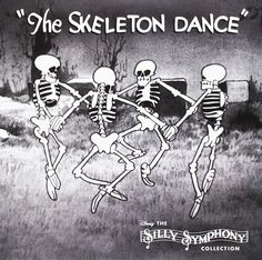 Various : Silly Symphony Collection -- Skeleton Dance/Three Little Pigs inch single) Record Store Day Release) Vinyl record) Disney Halloween, Vintage Halloween, Halloween Fun, Halloween Signs, Old Cartoons, Classic Cartoons, Vintage Cartoon, Vintage Disney, Skeleton Dance Disney