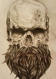 skull with beard tattoos - Yahoo Image Search Results Bild Tattoos, Neue Tattoos, Body Art Tattoos, Sleeve Tattoos, Tattoo Ink, Men's Leg Tattoos, Pirate Tattoo Sleeve, Pirate Skull Tattoos, Calf Tattoo Men