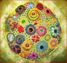 Flowers and Circles by Susanne Anna Maria