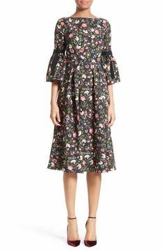 Erdem Floral Print Matelassé Dress