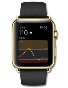 Dexcom G4® PLATINUM Continuous Glucose Monitoring System: track glucose levels on an Apple Watch and share data with up to five additional people