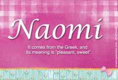 So I have decided two names... naomi or nadia. I would like a vote on which name seems more attractive.