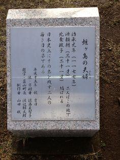 蛭ヶ小島 頼朝と政子の像側にある碑
