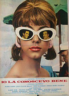 "I Knew Her Well (1965) ""Io la conoscevo bene"" (original title) Stars: Stefania Sandrelli, Mario Adorf, Jean-Claude Brialy, Franco Nero, Karin Dor, Ugo Tognazzi ~  Director: Antonio Pietrangeli"