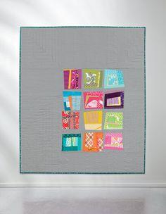 Improv Color Blocks quilt by Kati Spencer