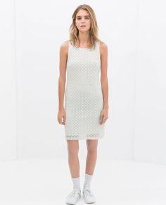 NWT ZARA BACKLESS DRESS SS14 TRF Off White SIZE M #ZARA #Casual