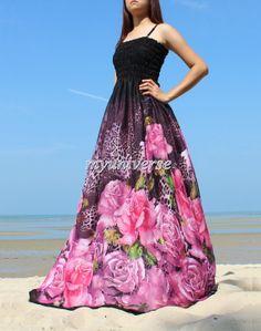 Sexy Maxi Dress - Summer Beach Gown Pink Wedding Dress Prom Sundress Graduation Plus Size Dress
