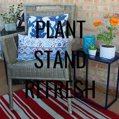 My rusty plant stand...