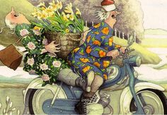 Illustration by Inge Löök. This is how I want to be when I am older...