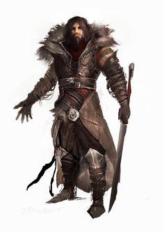 man bandit coat sword