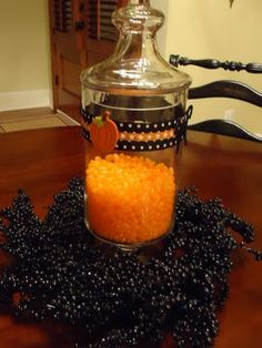 Cute idea: get three, fill with candy corn or colored jelly beans.