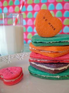 #Valentine's Day Recipe: Conversation Heart Cookies (http://blog.hgtv.com/design/2013/01/31/valentines-day-recipe-conversation-heart-cookies/?soc=pinterest)