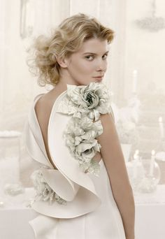 Lovely back of a wedding dress
