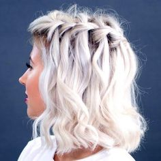 Let your hair flow into casually pretty waterfall braids. Let this video tutorial guide you to style your hair.
