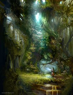 As Kyra made her way through the fantastic trees, she began to hear a faint throbbing sound. It grew louder...