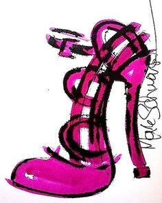 #shoes  #art  #high heels  #www.highheeledart.com  #Mark Schwartz   #paintings of shoes