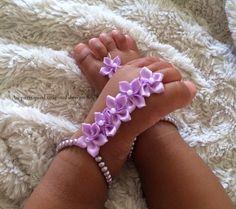 Sandalias pies descalzos del bebé sandalias bebé por Aupetitpied
