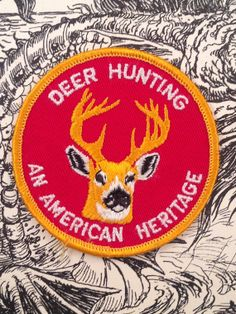 Deer Hunting an American Heritage Patch by HeydayRetroMart on Etsy, $6.50