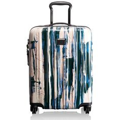 Women's Tumi 'V3' Continental 4 Wheel Carry-On (6.469.650 IDR) ❤ liked on Polyvore featuring bags, luggage and waterfall stripe