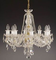 8 arm #ceiling #chandeliers - Beautiful crystal chandelier with twisted arms, suitable for standard to higher ceilings. Best selling design!