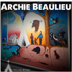 Incredible painting by artist Archie Beaulieu in Indigenous Art, Archie, Artsy, Comic Books, The Incredibles, Comics, Painting, Comic Strips, Paintings