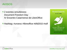 Como Turbinar o LibreOffice com Extensões by Klaibson Ribeiro via slideshare