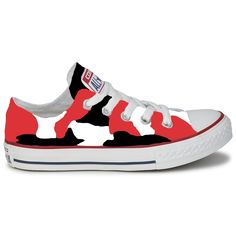 Converse custom, Converse all star, Converse shoes, Spotted Converse, black red Converse, high top / low top Converse, Converse custom shoes by Route66VS on Etsy