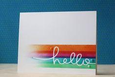 SSS~Hello Line Stencil (via Bloglovin.com )