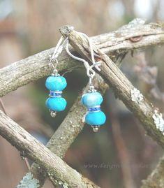 Blå Agat örhängen