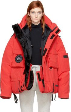 Vetements Red Canada Goose Edition Down Parka. Parka coat fashions. I'm an affiliate marketer. When you click on a link or buy from the retailer, I earn a commission.