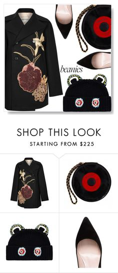 """Beanies"" by simona-altobelli ❤ liked on Polyvore featuring Valentino, Chanel, Markus Lupfer, Kate Spade, MyStyle, beanies and polyvorecontest"