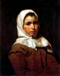un jeune paysanne fille - (Diego Velazquez)