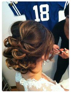 Elegant updo hair cocktail party wedding