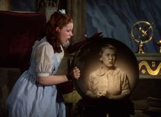 The Wizard of Oz [Dorothy held prisoner in The Wicked Witch of the West's castle, sees Auntie Em in the witch's crystal ball]