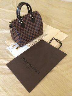 Louis Vuitton Speedy 25 Bandouliere in Damier Ebene - I'm inlove!