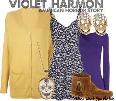 Inspired by American Horror Story Season 1 character Violet Harmon played by Taissa Farmiga.