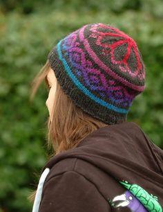 Fake Isle Hat by Amy King #knit #free_pattern