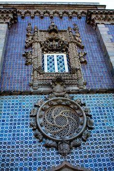 Palácio da Pena, Sintra, Portugal. Janela Manuelina.