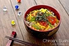 Quick & Easy Chirashi Sushi, plus great information on sushi. by @Nami | Just One Cookbook of @justonecookbook