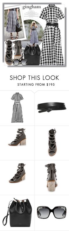 """""""Check Republic: Gingham Dress"""" by lucky-ruby ❤ liked on Polyvore featuring Lisa Marie Fernandez, Isabel Marant, TIBI, Mansur Gavriel, Gucci, blackandwhite and gingham"""