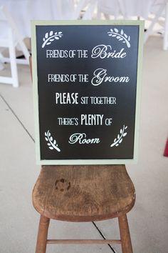 Sit together wedding sign
