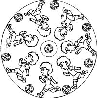 Fußball-Mandala