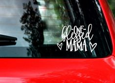 One blessed mama vinyl car decal. Sticker for your car. | Etsy
