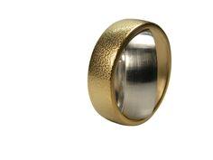 Ring im Ring Weißgold/Gelbgold